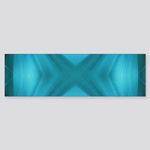 abstract teal geometric pattern Bumper Sticker