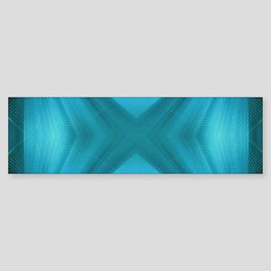 abstract teal geometric pattern Bumper Sticker