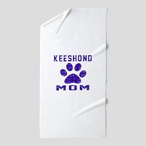 Keeshond mom designs Beach Towel