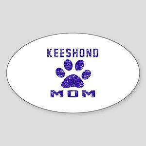 Keeshond mom designs Sticker (Oval)