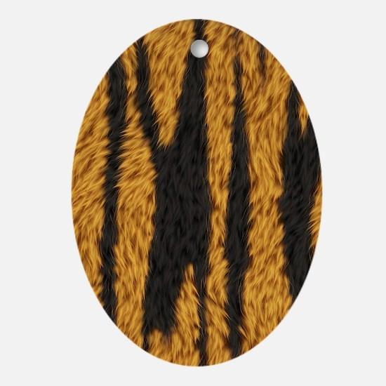 Tiger Stripes Oval Ornament