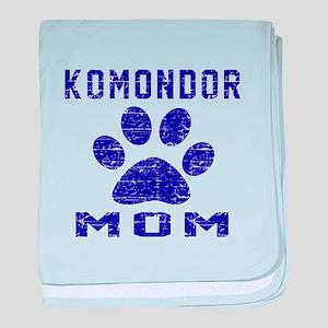 Komondor mom designs baby blanket