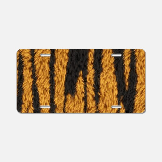 Tiger Stripes Aluminum License Plate
