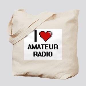 I Love Amateur Radio Digital Design Tote Bag