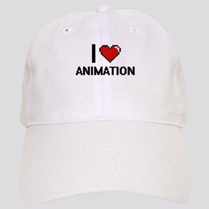 I Love Animation Digital Design Cap