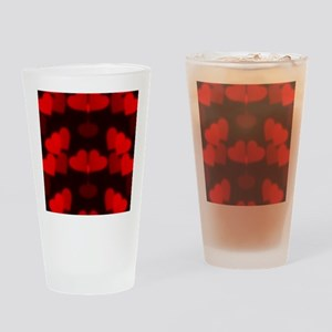 red hearts Drinking Glass