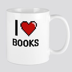 I Love Books Digital Design Mugs
