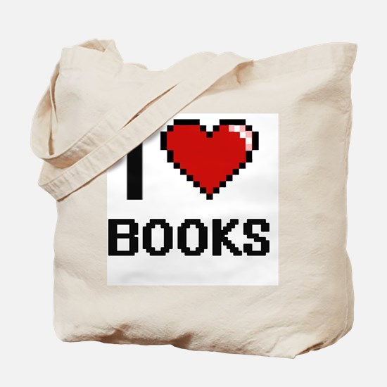 I Love Books Digital Design Tote Bag