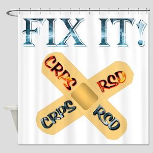 FIX IT! CRPS RSD Bandage Ice & Fire Shower Curtain