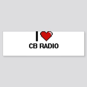 I Love Cb Radio Digital Design Bumper Sticker