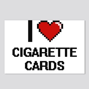 I Love Cigarette Cards Di Postcards (Package of 8)