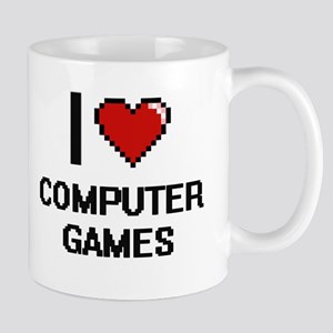 I Love Computer Games Digital Design Mugs