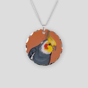 Cockatiel Necklace Circle Charm