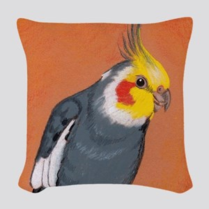 Cockatiel Woven Throw Pillow