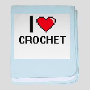 I Love Crochet Digital Design baby blanket