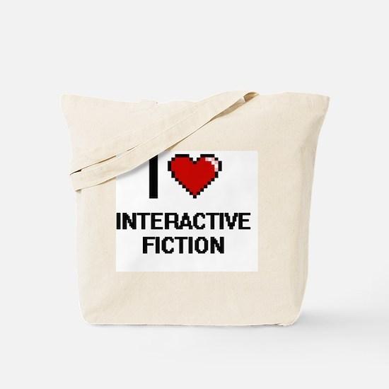 I Love Interactive Fiction Digital Design Tote Bag