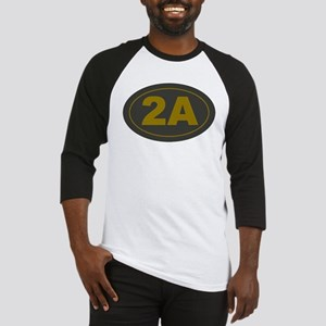 2A Oval Dark Olive/HE Yellow Baseball Jersey