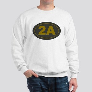 2A Oval Dark Olive/HE Yellow Sweatshirt