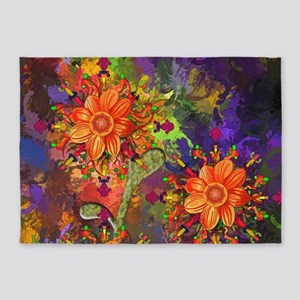 Fall Floral - Fine Art 5'x7'Area Rug