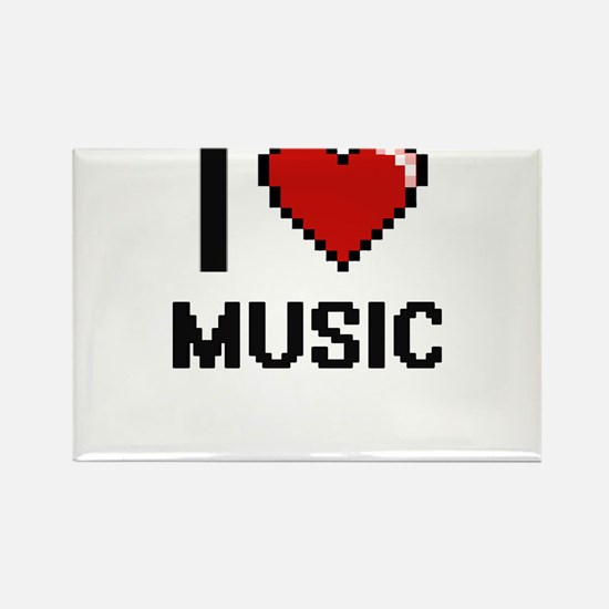 I Love Music Digital Design Magnets