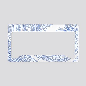 Blue Butterfly Sketch 1 License Plate Holder