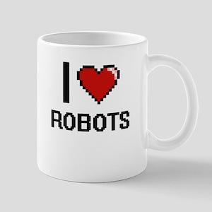 I Love Robots Digital Design Mugs