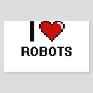 I Love Robots Digital Design Sticker