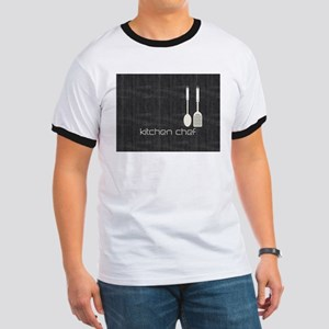 Hobby Kitchen Chef Logo Cream Denim T-Shirt