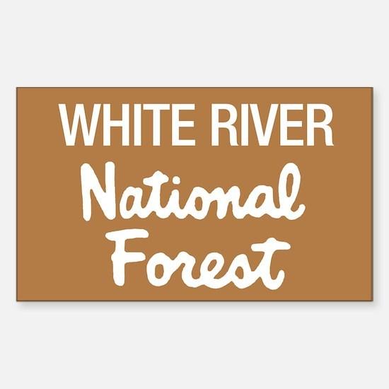 White River (Sign) National F Sticker (Rectangular