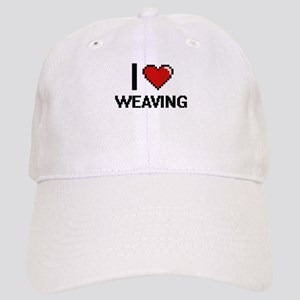 I Love Weaving Digital Design Cap