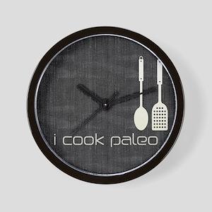 I Cook Paleo Hobby Kitchen Chef Logo Wall Clock