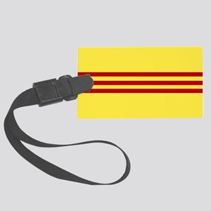 Square South Vietnamese Flag Large Luggage Tag