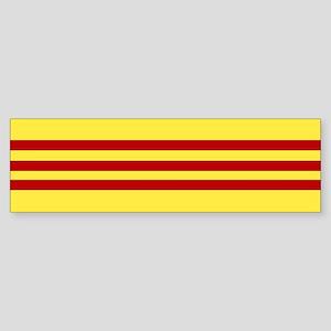 Square South Vietnamese Flag Bumper Sticker