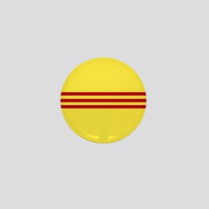 Square South Vietnamese Flag Mini Button