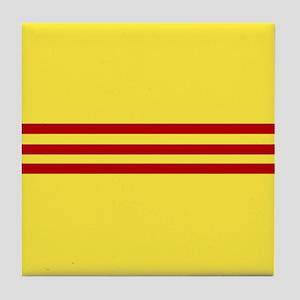 Square South Vietnamese Flag Tile Coaster