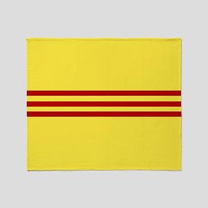 Square South Vietnamese Flag Throw Blanket