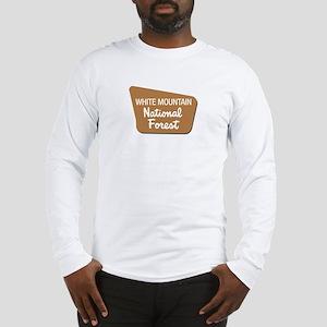 White Mountain (Sign) Nationa Long Sleeve T-Shirt
