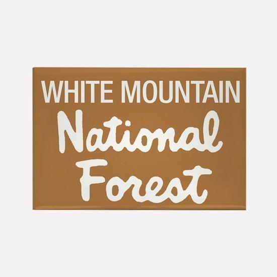 White Mountain (Sign) Nationa Rectangle Magnet