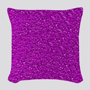 Sparkling Glitter Woven Throw Pillow