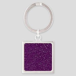 Sparkling Glitter Square Keychain