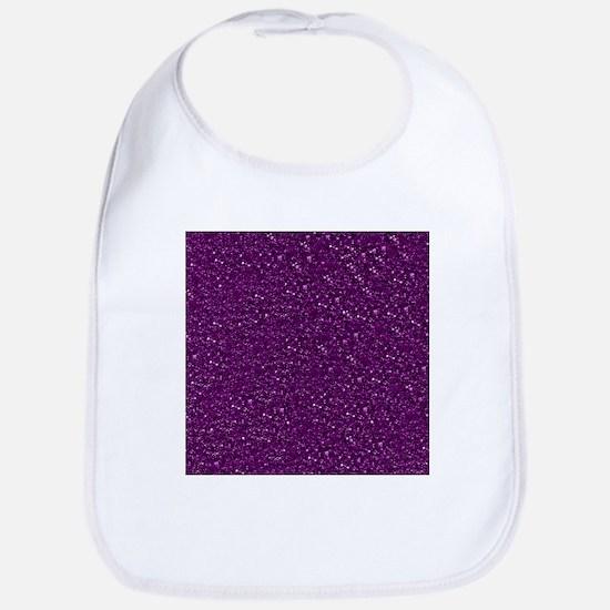 Sparkling Glitter, plum Bib