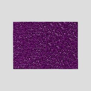 Sparkling Glitter, plum 5'x7'Area Rug