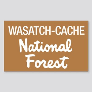 Wasatch-Cache (Sign) National Sticker (Rectangular