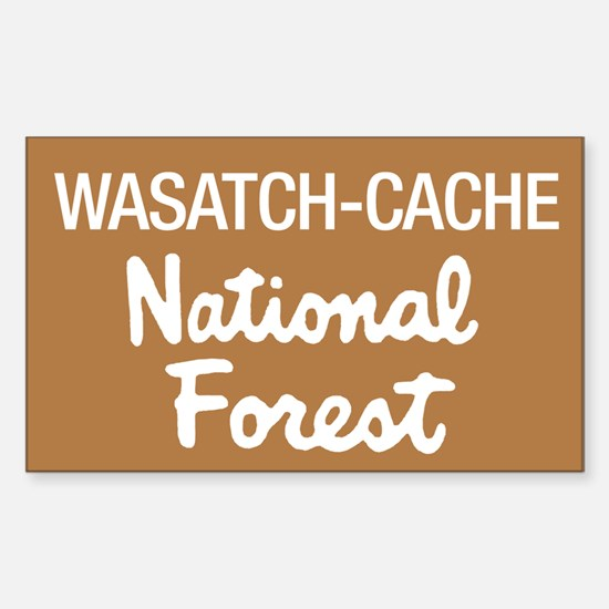 Wasatch-Cache (Sign) National Sticker (Rectangular