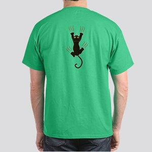 Clawing Black Cat Dark T-Shirt