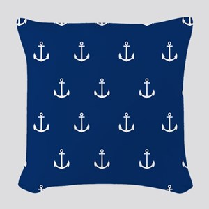 Nautical Elements Woven Throw Pillow