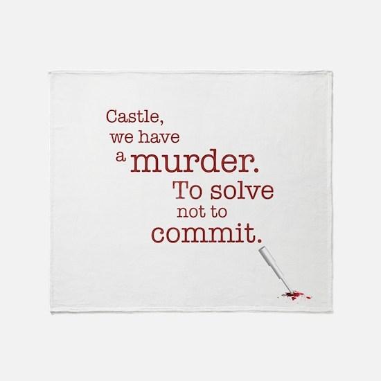 Murder to solve Throw Blanket