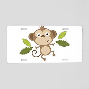 Baby Monkey Aluminum License Plate