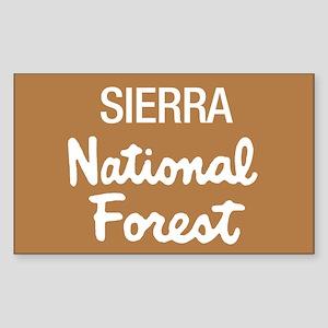 Sierra National Forest (Sign) Sticker (Rectangular