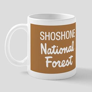 Shoshone National Forest (Sign) Mug